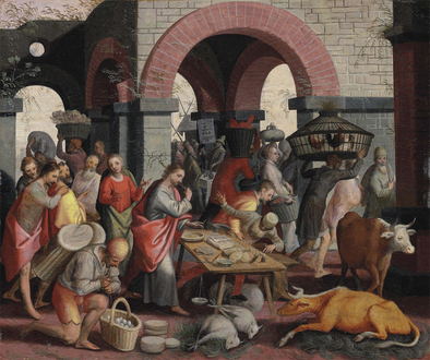 Pieter Aertsen - Christ cleansing the Temple