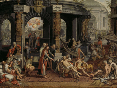 Pieter Aertsen - The Healing of the Paralytic of Bethesda