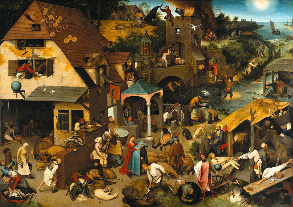 Pieter Bruegel - The Elder Netherlandish Proverbs
