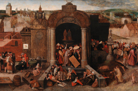 Pieter Bruegel the Elder - Christ Driving the Traders from the Temple