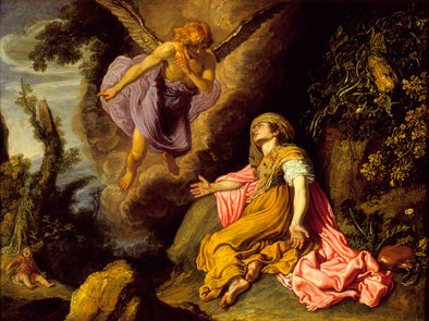 Pieter Lastman - Hagar and the Angel