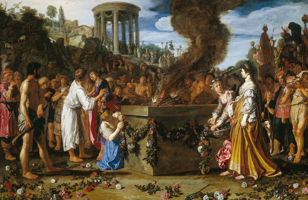 Pieter Lastman - Orestes and Pylades Disputing at the Altar