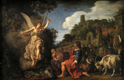 Pieter Lastman - The Angel Raphael Takes Leave of Old Tobit and his Son Tobias