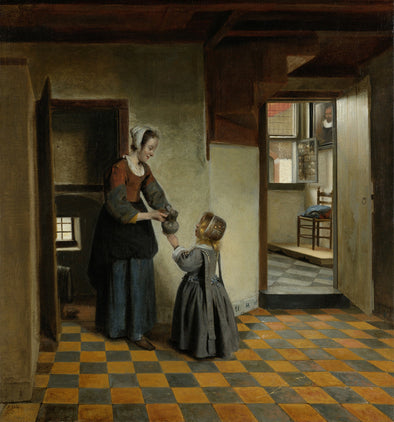 Pieter de Hooch - A Woman with a Child in a Pantry