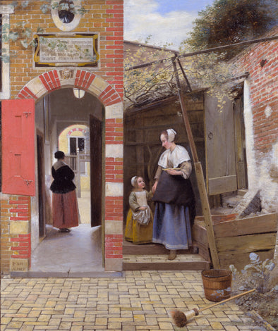 Pieter de Hooch - The Courtyard of a House in Delft
