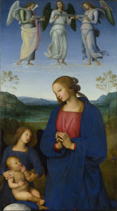 Pietro Perugino - The Virgin and Child with an Angel