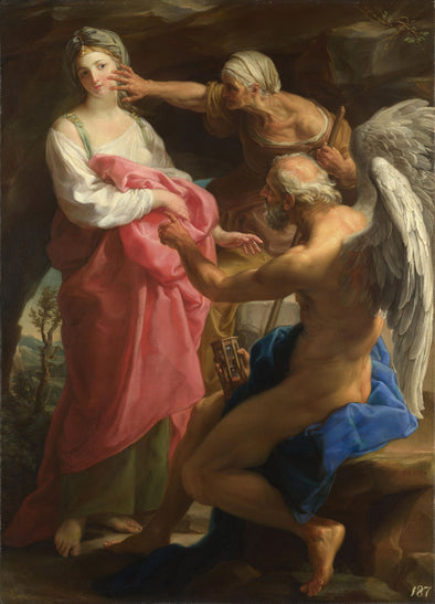 Pompeo Batoni - Time Orders to Destroy the Beauty of Old Age