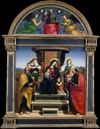 Raphael - Madonna and Child Enthroned with Saints
