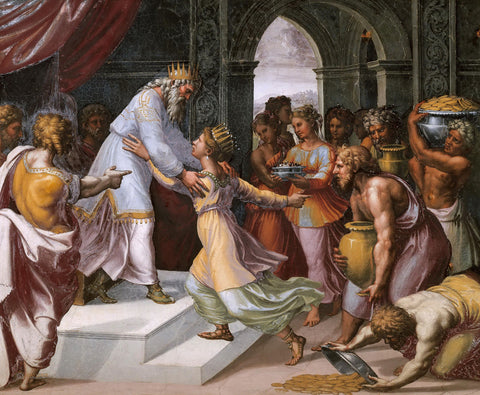 Raphael - Queen of Sheba and Solomon