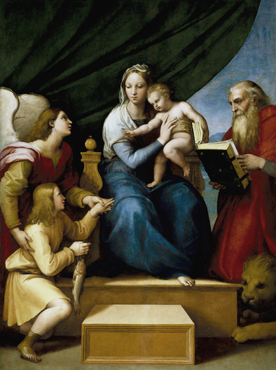 Raphael - The Holy Family with St. Raphael, Tobias and St. Jerome