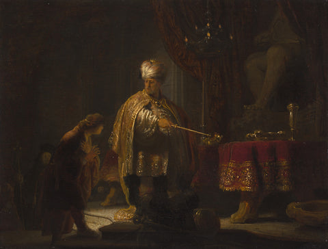 Rembrandt  - Daniel and Cyrus before the Idol Bel