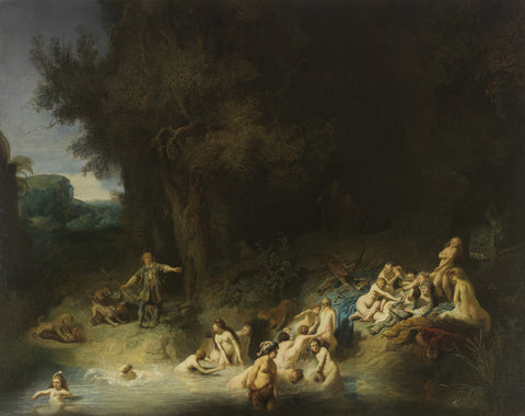 Rembrandt - Diana with Actaeon and Calisto