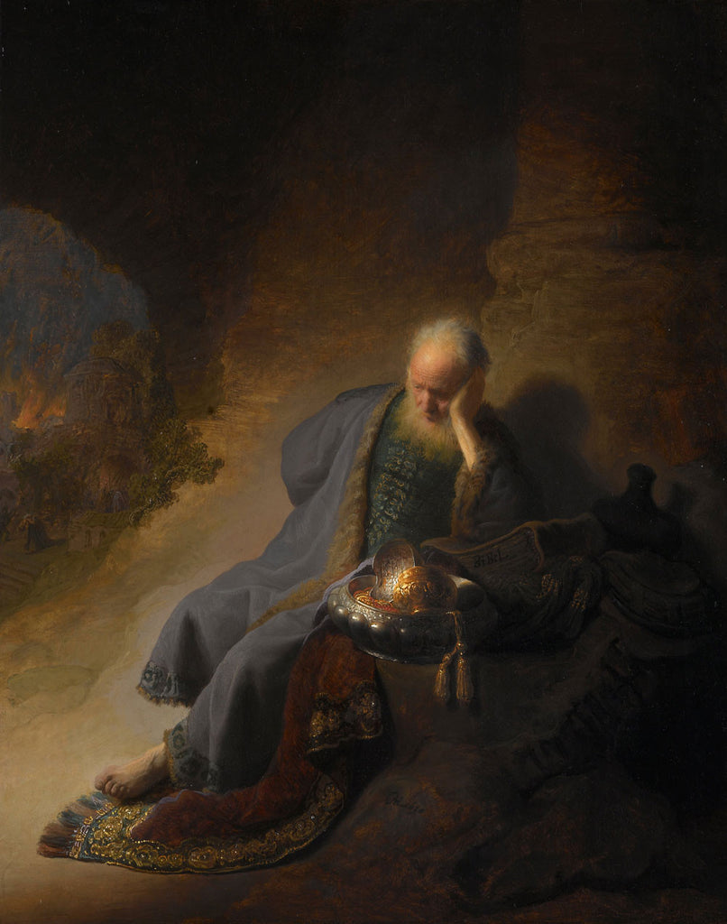 Rembrandt  - Jeremiah Lamenting the Destruction of Jeruselem