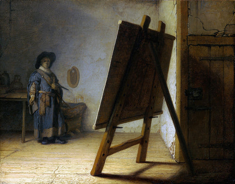 Rembrandt  - The Artist in his Studio