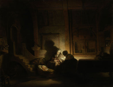 Rembrandt  - The Holy Family by Night