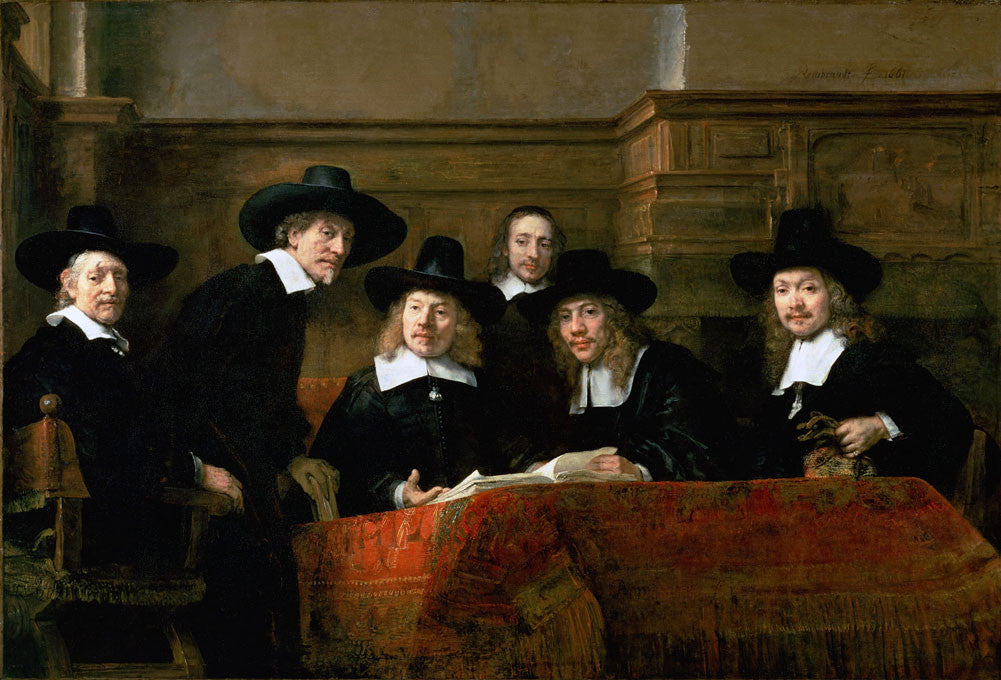 Rembrandt  - The Syndics of the Clothmakers Guild