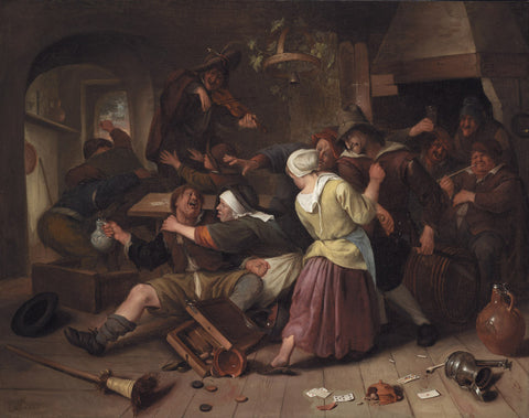 Jan Havickszoon Steen - Gamblers Quarreling