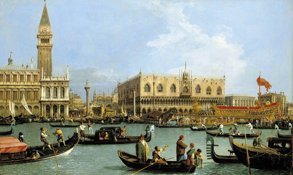 Canaletto - Return of the Bucintoro to the Molo on Ascension Day