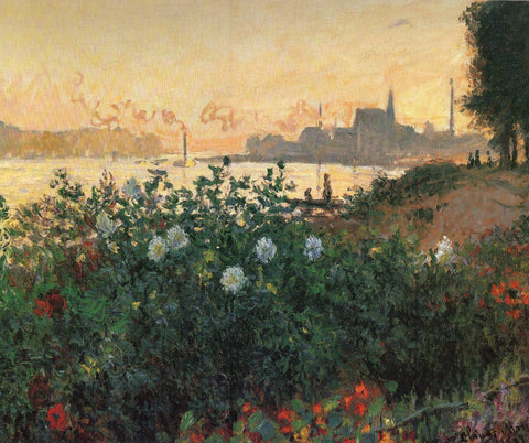 Monet - Flowered Riverbank Argenteuil