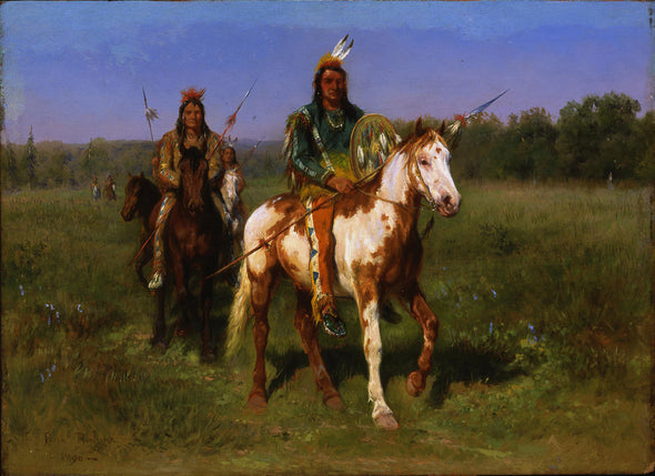 Rosa Bonheur - Mounted Indians Carrying Spears