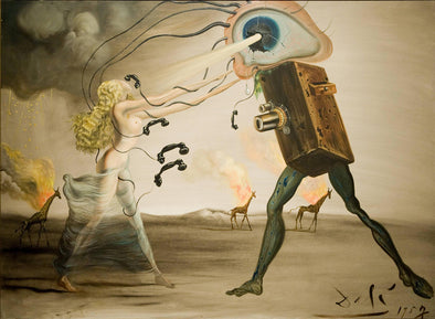 Salvador Dali - Burning Giraffes and Telephones