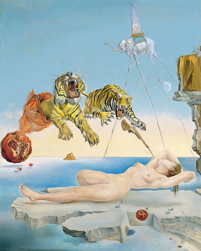 Salvador Dali - Dream Caused by the Flight of a Bee around a Pomegranate a Second before Wakening up
