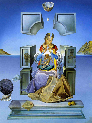 Salvador Dali - Gala, his wife, as Madona