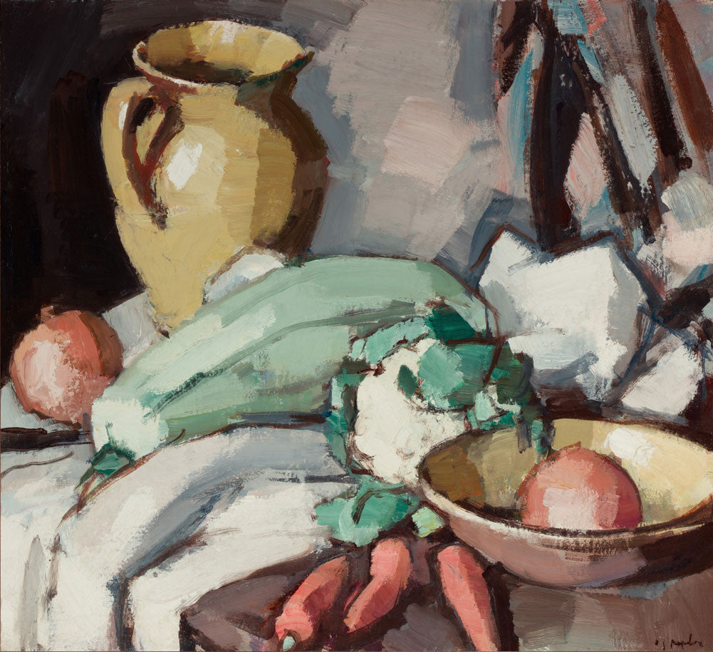 Samuel John Peploe - Still Life with Jug and Vegetables