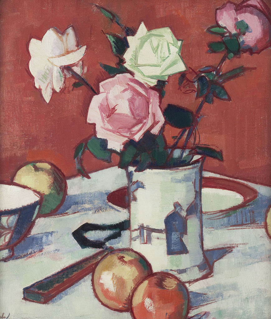 Samuel John Peploe - Still life of mixed Roses in Chinese Vase