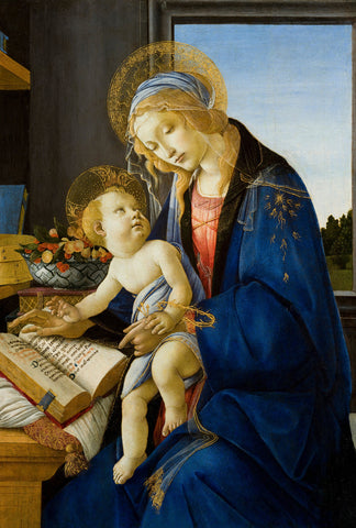 Sandro Botticelli - Madonna of the Book