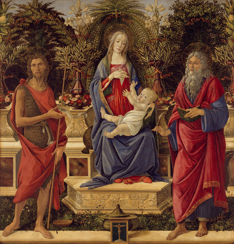 Sandro Botticelli - Madonna with Saints