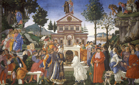 Sandro Botticelli - The Temptations of Christ