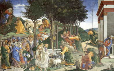 Sandro Botticelli - The Trials of Moses