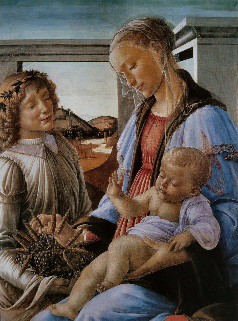 Sandro Botticelli - Virgin and Child with an Angel