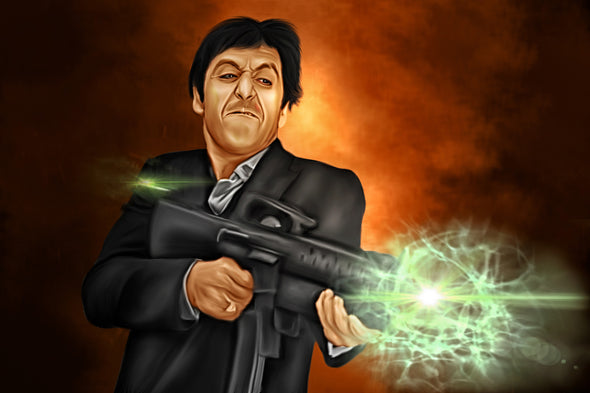Scarface Digital Painting - Get Custom Art