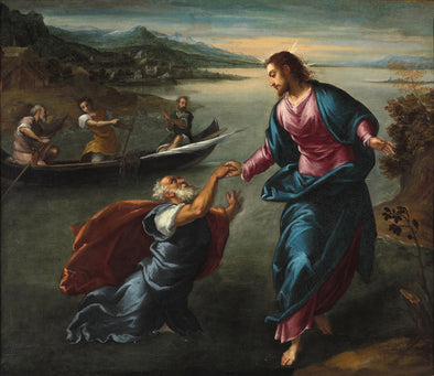 Scarsellino - Christ and Saint Peter at the Sea Of Galilee