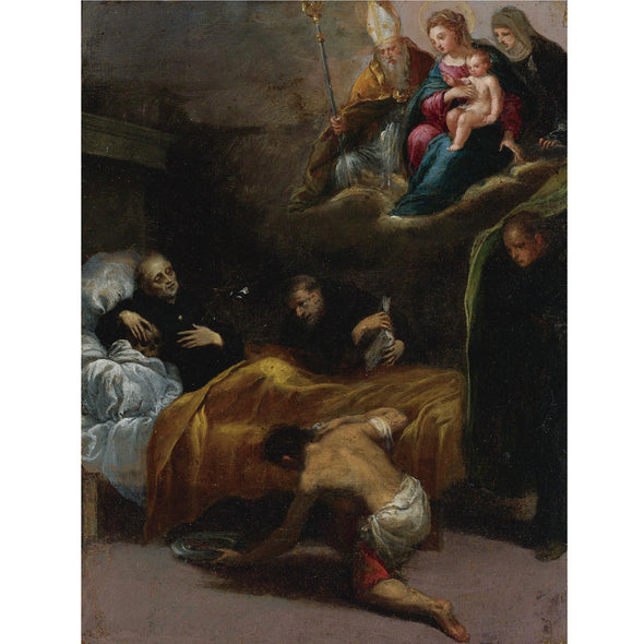 Scarsellino - Death of Saint Dominic with the Virgin and Other Saints