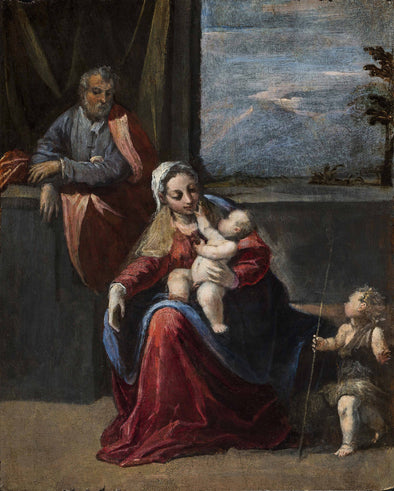 Scarsellino - Holy Family with Young Saint John the Baptist