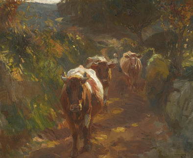 Sir Alfred James Munnings - Bringing up the Cows