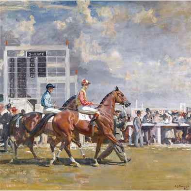 Sir Alfred James Munnings - Going out at Epsom