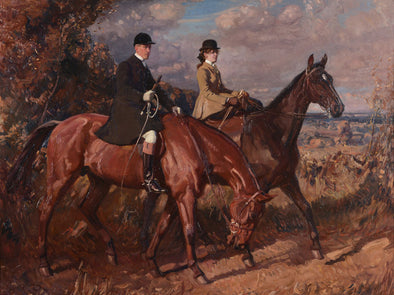 Sir Alfred James Munnings - Going to the meet, Captain