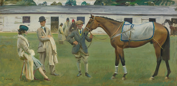 Sir Alfred James Munnings - Kempton Park Stables