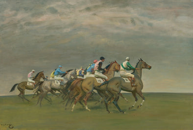 Sir Alfred James Munnings - Start of a Steeplechase