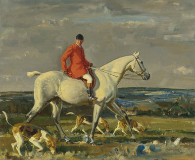 Sir Alfred James Munnings - Whipper on a Grey Hunter