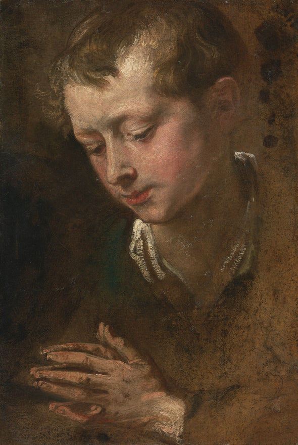 Sir Anthony van Dyck - Head of a Boy with Clasped Hands