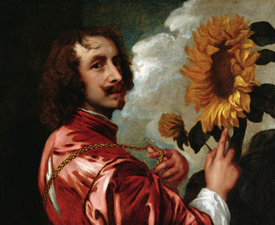 Sir Anthony van Dyck - Self-Portrait With a Sunflower