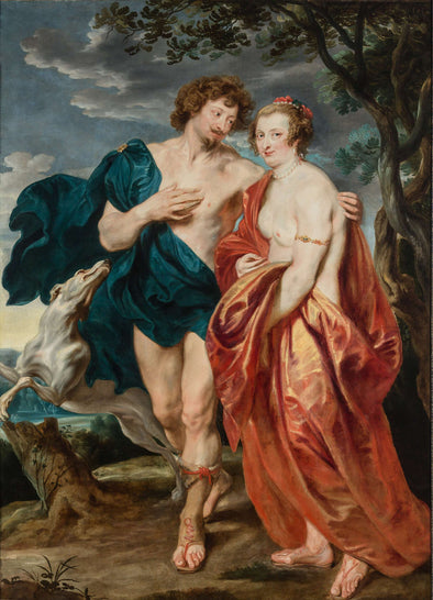 Sir Anthony van Dyck - Sir George Villiers and Lady Katherine Manners as Adonis and Venus