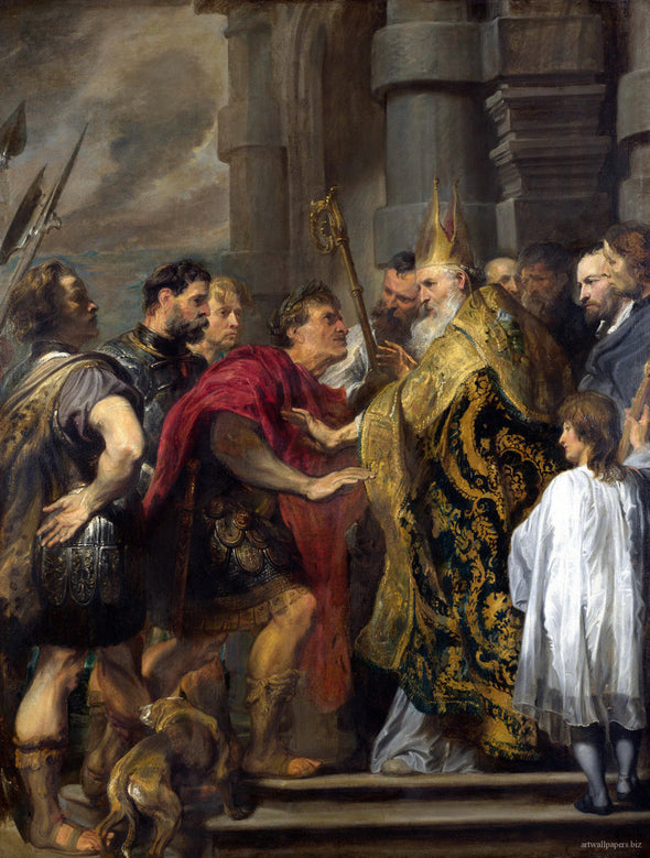 Sir Anthony van Dyck - St Ambrose barring Theodosius from Milan Cathedral