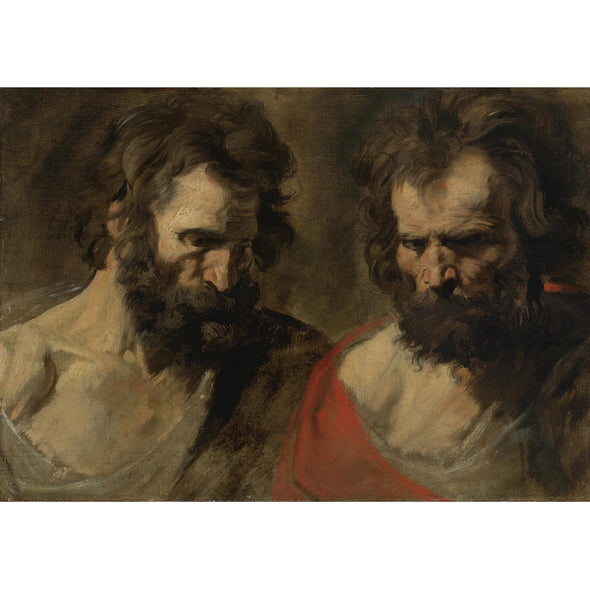 Sir Anthony van Dyck - Two Studies of a Bearded Man