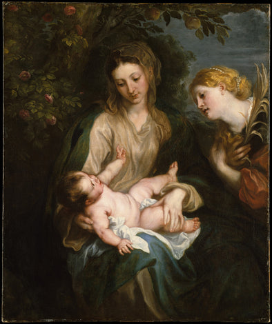 Sir Anthony van Dyck - Virgin and Child with Saint Catherine of Alexandria